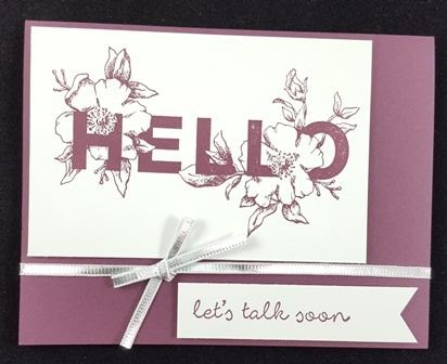 Simple Rubber Stamped Card
