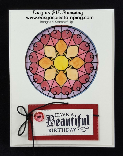 Graceful Glass Birthday Card