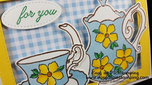 Feminine Birthday Card with Teapot