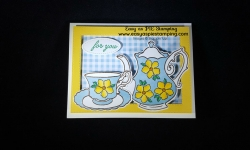 Feminine Birthday Card with Teapot