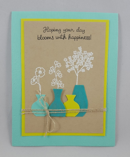 Varied Vases Birthday Card